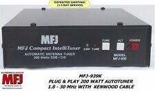 MFJ-939K Plug & Play 200 Watt Autotuner 1.8-30 MHz With KENWOOD Cable