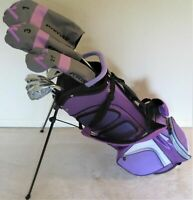 NEW Tall Ladies M3 Golf Set Complete Driver Wood Hybrid Irons Putter Stand Bag