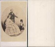 CDV La Famille impériale, Empereur Napoléon III, impératrice Eugénie et le Princ