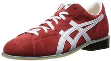 ASICS Weight Lifting Shoes 727 Red White Leather US9(27cm) EMS w/ Tracking
