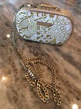 Beautiful  Lilly Pulitzer   Gold Tone Chain  Handbag Clutch