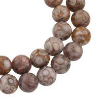 Natur Maifan Jaspis Stein Perlen 8mm * A GRADE * Kugel Edelstein 10stk G756