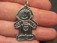 sterling silver boy pendant