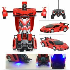 1:18 Transformer RC Robot Car Remote Control 2 IN 1 Kids Boys Toy US Red