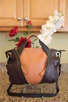 orYANY Pebble Leather Lian Satchel Convertible  Handbag A239268 Bordeaux (PU700
