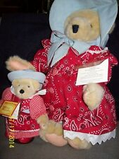 Muffy &  Alice Vanderbear in Wild West outfits- nearly new
