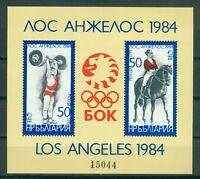 Bulgarien Block 132  , ** , Olympische Spiele 1984