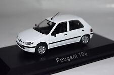 Peugeot 106 Electric 1997 weiß 1:43 Norev neu & OVP 471061