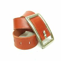 Vintage Liz Claiborne Red Leather Oversized Buckle Women's SZ M Belt
