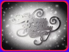 Large Swirly Happy Birthday Metal Cutting Die,Craft,Card Making,Scrapbooking,DIY