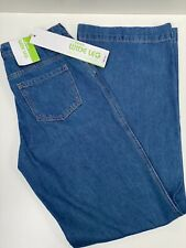 long tall sally Button Fly Wide Leg Jean, high rise Damen-Jeans, Gr.40 , blau