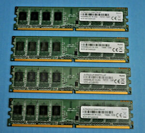 LOT OF 4 AVF6428U61E5667FN-AP Desktop DIMM Memory tESTED WORKING LOT 723