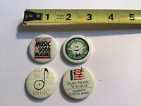 Lot Of 4 Pins Music Education School Music Vintage Pins