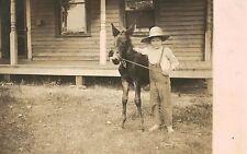 RPPC,Chippewa Falls,Wisconsin,Little Boy & His Pony,Used,1913