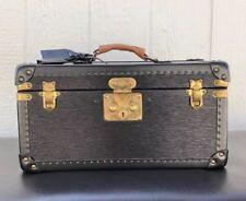 Authentic Louis Vuitton BLACK NOIR BOITE FLACONS COSMETIC VANITY TRUNK CASE