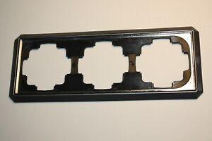 Gira TRIAS FACET 3-fach Rahmen grau mit verchromter Zierkante