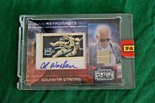 Al Worden Panini Autograph Signed NASA Astronaut worn memorabilia Apollo 08/50