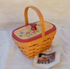 New ListingBlackberry Booking Basket w/ Liner Protector & Hand Painted Lid 2005 Longaberger