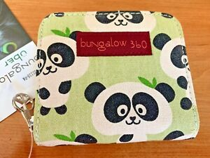 Bungalow 360, PANDA, Canvas Zip Billfold Wallet 31116-