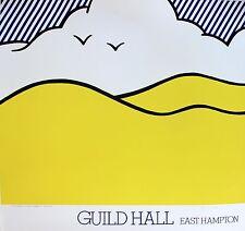 Lichtenstein Silkscreen Hand Signed Numbered Guild Hall Between Sea / Sky 1980 D
