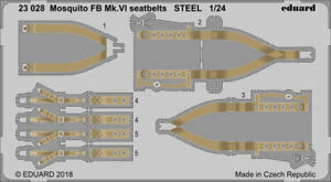 ED23028  NEW Eduard 1:24 de Havilland Mosquito FB Mk.VI Colour Etched Seatbelts