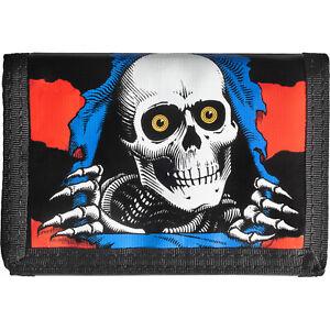 Powell Peralta Skateboard Wallet Ripper Blue/Red Tri-Fold
