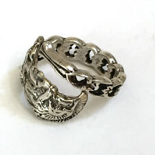 Antique Sterling Silver Spoon Ring size 7.5