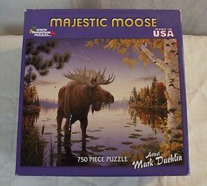 SEALED NEW White Mountain Puzzles Majestic Moose 750 PC Mark Daehlin Jigsaw 283W