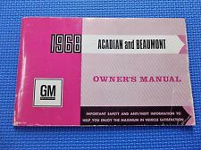 1968 ACADIAN BEAUMONT Canadian Owners manual
