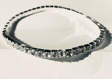 Genuine Swarovski Crystal 3mm Rhinestone Bracelet silver plated or ANKLET