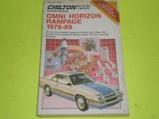 1978-1989 DODGE OMNI MISER 024 CHARGER 2.2 PLYMOUTH HORIZON TC3  REPAIR MANUAL