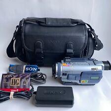 SONY Digital Video Camera Recorder Digital 8 HI8 Camcorder DCR-TVR230 - Bundle