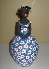 Unique Art Pottery African American Ednaldo Lady Woman Figurine