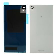White Replacement Battery Back Rear Glass Cover Panel for Sony Xperia Z3 D6533
