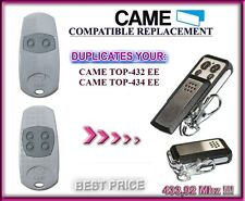 CAME TOP432EE / CAME TOP434EE compatible télécommande / Cloner 433,92Mhz