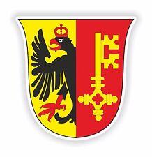 2x Ginebra Suiza Escudo De Armas Bumper Stickers