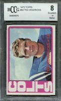 1972 topps #93 TED HENDRICKS baltimore colts rookie card BGS BCCG 8