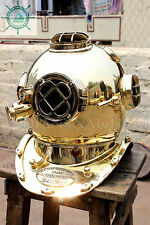 Morse Equipment Us Navy Diving Divers Helmet Solid Brass Deep Sea Scuba Edfg2569