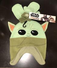 "6-12 Months Baby Yoda Child Beanie + Mitts Set Disney + Mandalorian 16""-18"" Head"