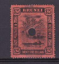 DB464) Brunei 1910 $25 Black on Red, SG 48