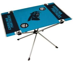 Carolina Panthers Endzone Tailgate Table [NEW] NFL Portable Chair Fold Party