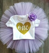 Lavender and Gold 1st Birthday Outfit