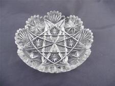 ABP Brilliant Cut Glass Crystal Dish Maple City T.B. Clark Co. Signed Fan & Star