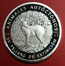 CHILE, FANTASY COIN, SILVER PLATED, ENDANGERED FAUNA, HUEMUL, BEAUTIFUL PIECE