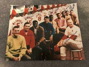 1968 St.Louis Cardinals Million Dollar Lineup Signed/Autographed 16x20 Photo