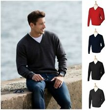 V Neck Patternless Medium Knit Jumpers & Cardigans for Men