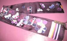 AUTH NEW IN BOX LOUIS VUITTON SILK BUTTERFLY SCARF BANDANA BANDEAU PURPLE VIOLET