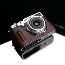 GARIZ HG-X100FBR Genuine Leather Half Case for Fujifilm Fuji X100F Brown