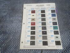 1997 HONDA PRELUDE ACCORD CIVIC INTEGRA LEGEND OASIS COLOR CHIPS CHART BROCHURE