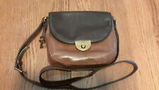 Fossil Leather Brown Saddle Crossbody Bag